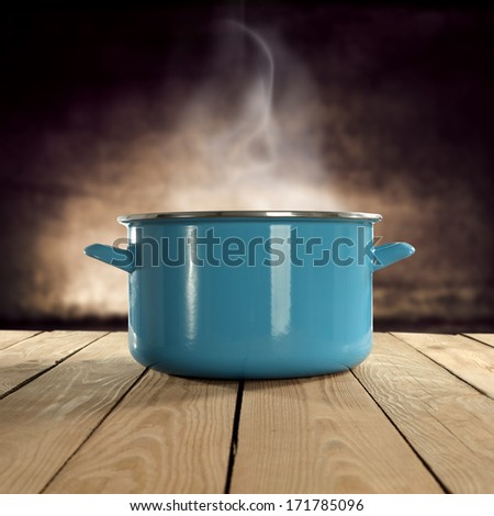hot food in pot