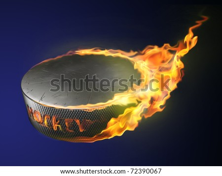 hot goal, burning puck