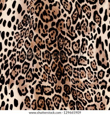 hot leopard skin seamless background
