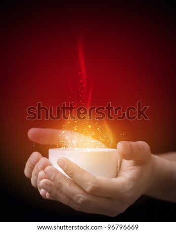 Hot magic drink