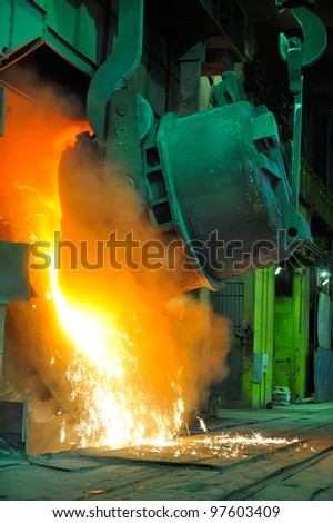 hot metal in factory
