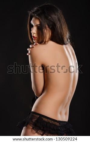 Hot model in lingerie