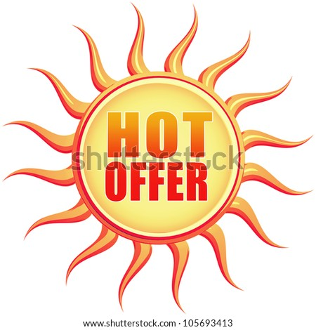 Hot offer retro style illustration of sun with text