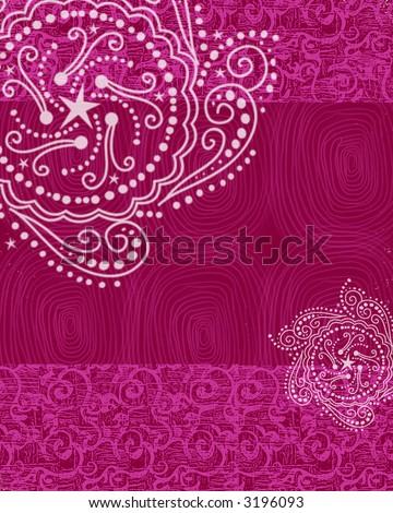 stock photo : Hot Pink Henna Background