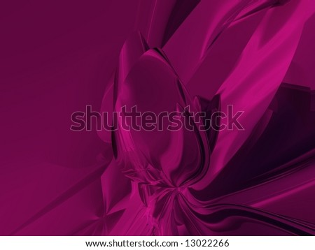 Hot Pink Metallic Rose Abstract