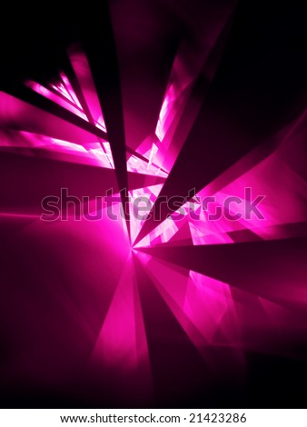 Hot Pink Party - 3D fractal Illustration