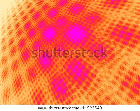 Hot Pink to Orange on White Moire 3D Landscape