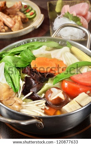 Hot pot on the table