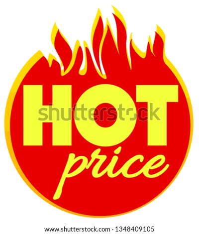 hot price offer deal discount clearance illustration