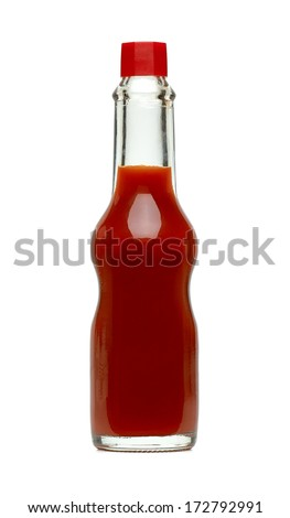 hot sauce in bottle with clipping path stock photo 172792991 shutterstock. Black Bedroom Furniture Sets. Home Design Ideas