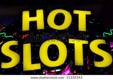 Hot slots - neon lights in casino
