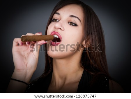 hot smoker - stock photo