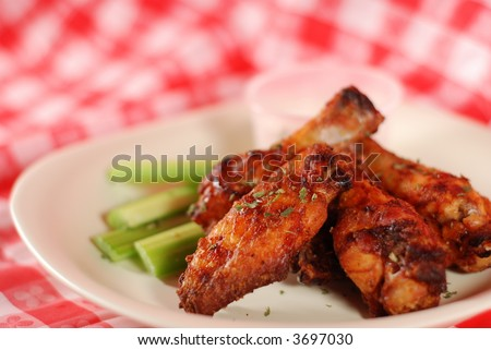 hot & spicy finger food - stock photo