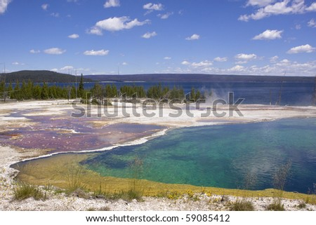 Hot spring at Yellowstone lake