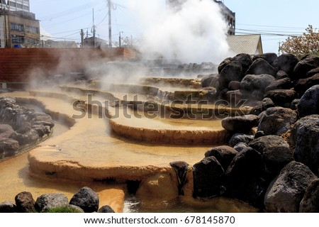 Hot spring in Obama city Japan