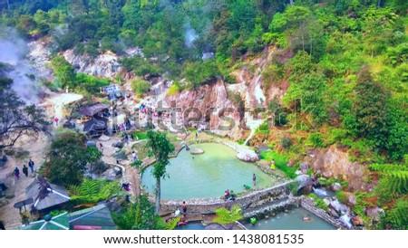 hot spring water. kawah Rengganis. Indonesia #1438081535