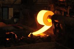 Hot Steel Rolls in Factory