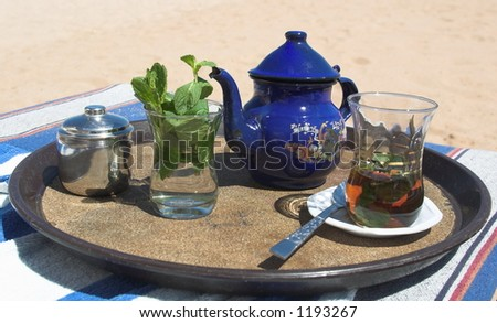 hot tea on hot beach