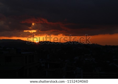 hot tropical sundown landscape, sundown - sunset - evening #1152434060
