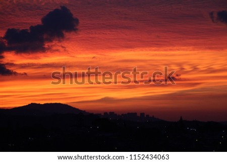 hot tropical sundown landscape, sundown - sunset - evening #1152434063