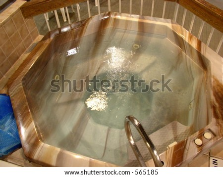 Hot tub is provided for guests at elegant hotel