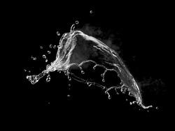 Hot water with steam splash