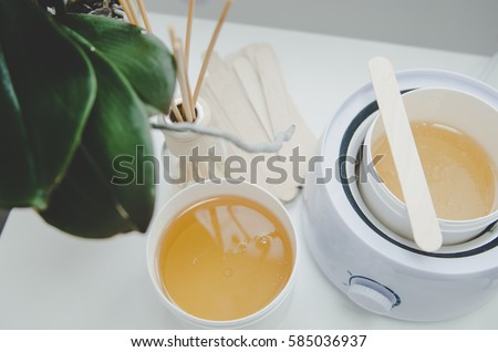 hot wax in white bowl for Hair removal Сток-фото ©