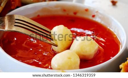 Hotdog dipping sauce #1346319359