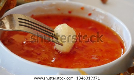 Hotdog dipping sauce #1346319371
