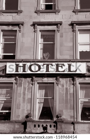 Hotel Accommodation Sign