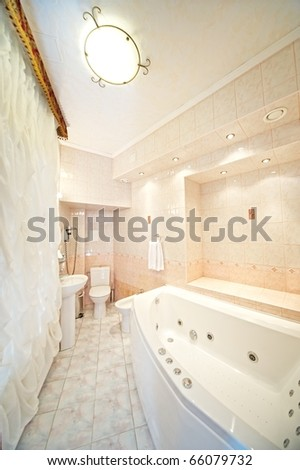 Hotel bathroom interior
