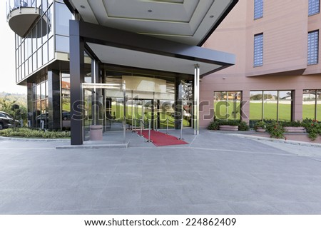 Hotel cafe - part of a hotel entrance