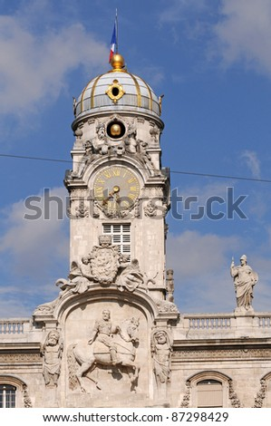 Hotel de Ville - City Hall - at Place des Terreaux in Lyon, France - stock photo