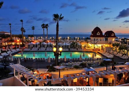hotel del coronado island. stock photo : Hotel del