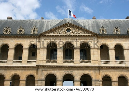 Hotel des Invalides in Paris, France. Famous landmark.