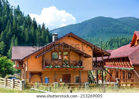 Hotel in Carpathian Mountains. Ukraine.