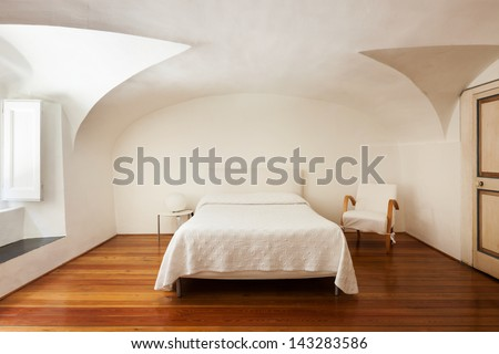 hotel in historic palace, interior, view bedroom