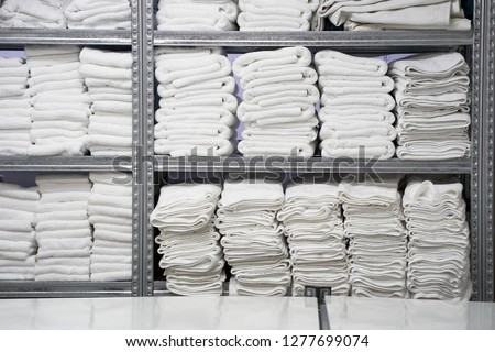 Hotel linen cleaning services. Hotel laundry #1277699074
