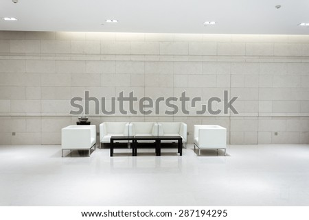 hotel lobby and furniture