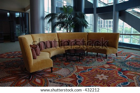 stock photo : Hotel lobby furniture