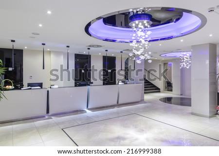 Hotel reception and lobby hall