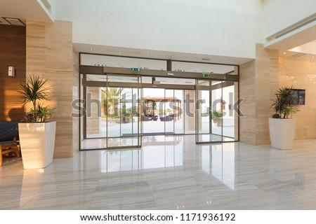 Hotel reception area, entrance