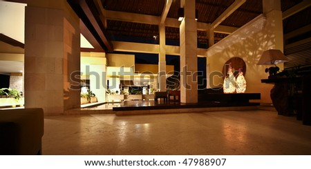 hotel reception in Bali