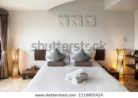 Hotel room at a luxury resort