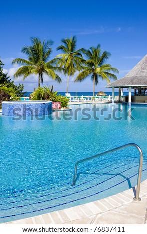 hotel's swimming pool, Tobago