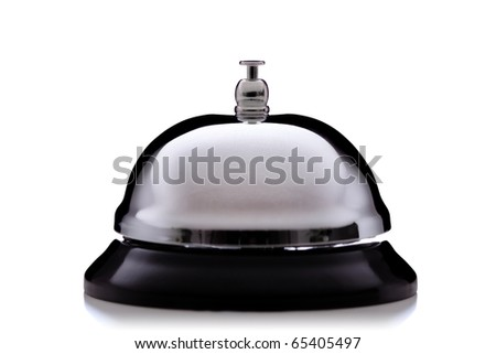 hotel service bell, isolated on white background