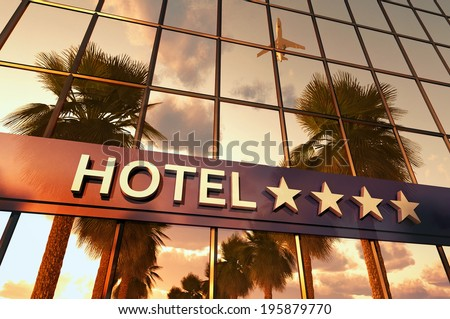 hotel sign with stars