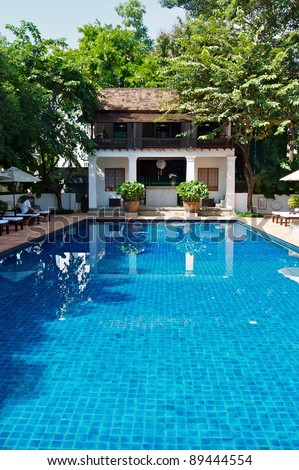 Hotel swimming pool in Chiang Mai, Thailand