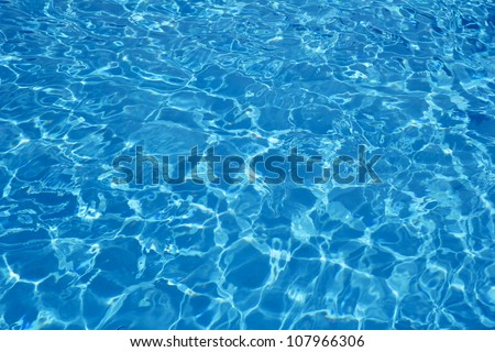 Hotel swimming pool with sunny reflections #107966306