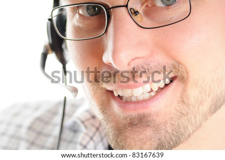 Hotline - Friendly Young Man with Headset